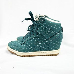 RARE🔥 Nike Dunk Sky Hi Green Gum Sneaker Wedge US 5.5 Women's